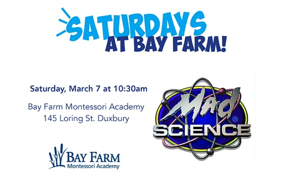 Saturdays at Bay Farm with MAD Science