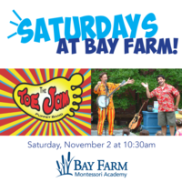 Join us Saturday, November 2 at 10:30 for Toe Jam Puppet Band