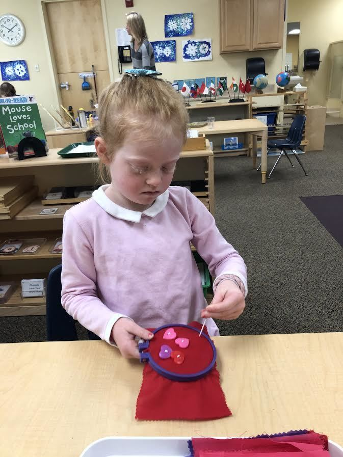 Sewing Buttons Practical Life Montessori Duxbury South Shore