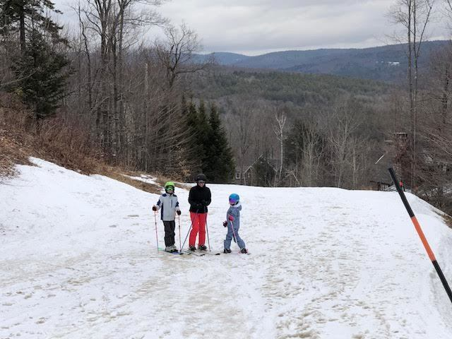 Moguls engineered their own ski lift to take advantage of the last day of winter!